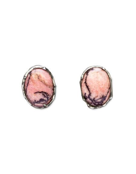 Orecchini rodonite ovale
